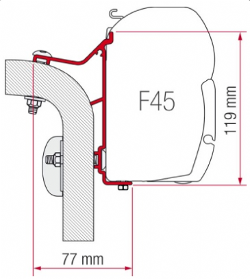 Fiamma F45 Awning Adapter Kit - Hymer Van/B2